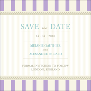 Vintage B - 1 Sided Save the Date 6x6