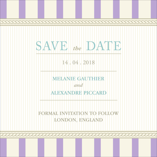 Vintage B - 1 Sided Save the Date
