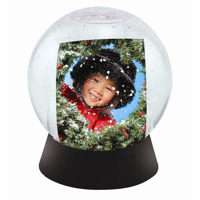 Black Base Sphere Snow Globe