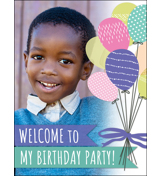 Balloons B-Day Poster