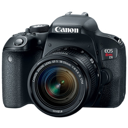 Canon-EOS Rebel T7i Digital SLR Camera with EF-S 18-55mm f4-5.6 IS STM Lens-Digital Cameras