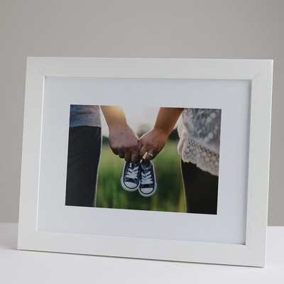 330x250mm Print in a 30mm White Frame with a 150x225mm image (50mm white space on all sides)