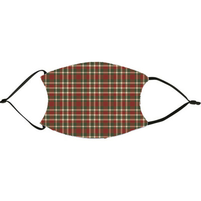 Muted Christmas Plaid Face Mask