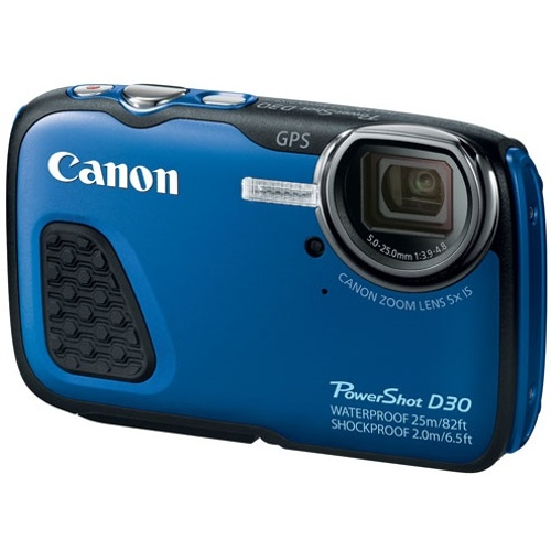 Canon-PowerShot D30 Waterproof - Shockproof Digital Camera - Blue-Digital Cameras