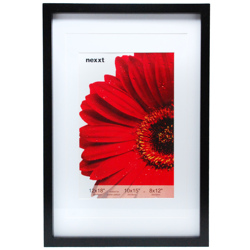 "Nexxt Design-Gallery 12""x18"" Double Matted to 8""x12"" Wood Frame – Black #PN17496-4-Photo Frames"