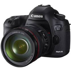 Canon-EOS 5D Mark III with 24-105mm L IS USM AF Lens - Black-Digital Cameras