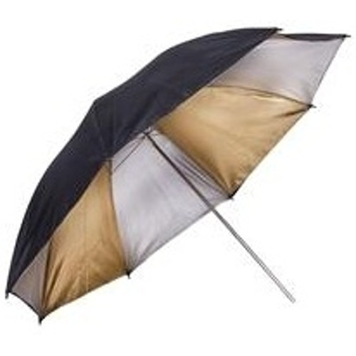 "ProMaster-Professional Series Black - Gold - Silver Umbrella 60"" #9958-Light Tents, Softboxes, Reflectors and Umbrellas"