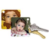 """Porte-clés carré 2 photo (2,25""""x2,25"""")"""