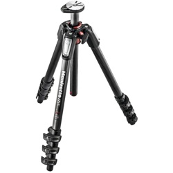 Manfrotto-055 Carbon Fiber 4-Section Tripod with Horizontal Column-Tripods & Monopods