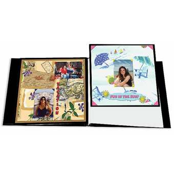 Pioneer Black Memory Book Refill Pages 12x12 5 Pack K Rmb 5