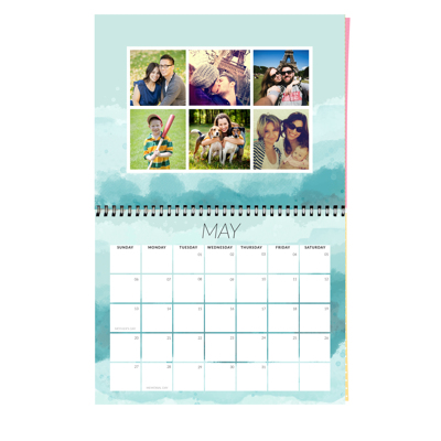 11 x 8.5 Wall Calendar (Brushed Background) 2019