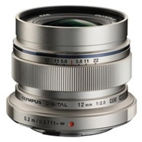Olympus-M.Zuiko Digital ED 12mm f2.0 Lens - Silver-Lenses - SLR & Compact System