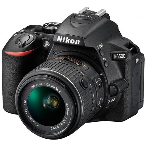Nikon-D5500 Digital SLR Camera with AF-S NIKKOR 18-55mm G VR II Lens - Black-Digital Cameras
