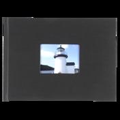 6x8 Hardbound Linen Book with Keyhole (Black)