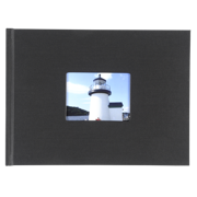 6x8 Hardbound Linen Book with Keyhole (Black)