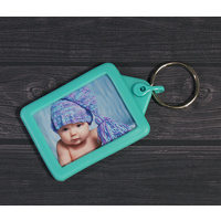 Soft Touch Passport Keyring - Turquoise