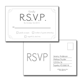 Simple White RSVP 4x6 Postcard