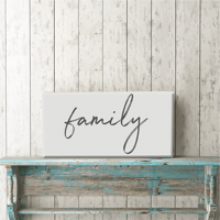 "Family 12""x24"" Canvas Print"