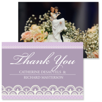 Lace A - 2 Sided Thank You