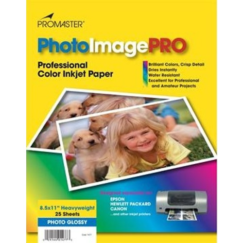"""ProMaster-Heavy-Weight Glossy, 8.5"""" x 11"""" Inkjet Paper (25 Sheets) #1477-Paper"""