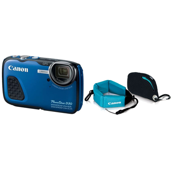 Canon-PowerShot D30 Waterproof - Shockproof Digital Camera Blue with Accessory Kit-Digital Cameras