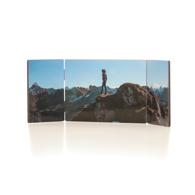Panneau triple, horizontal avec pentures, 3 images - 5 x 14