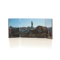 5 x 14 Horizontal Triple Panel with Hinges, 3 images- White Gloss finish