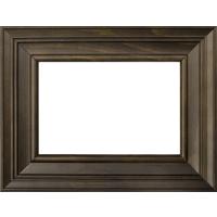 4x6 Horizontal Dark Brown Wood Frame