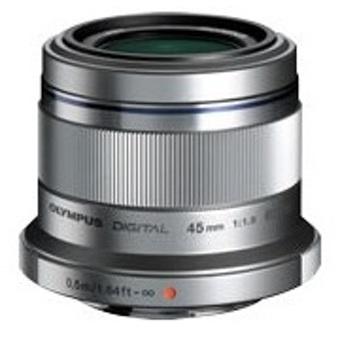M  Zuiko Digital ED 45mm f1 8 Lens - Silver