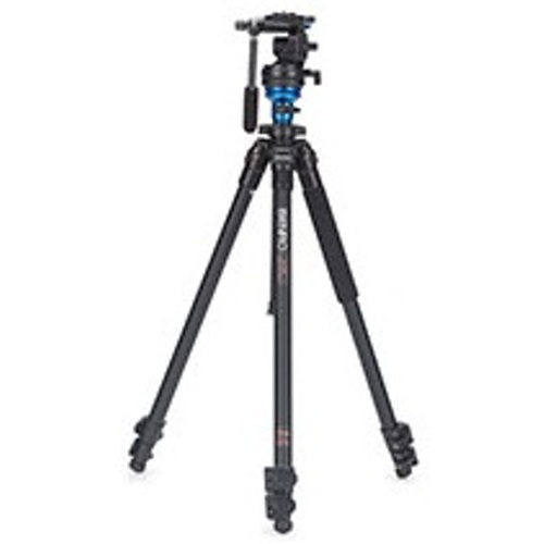 Benro-A1573FS2 Series 1 AL Video Tripod & S2 Fluid Video Head-Tripods & Monopods