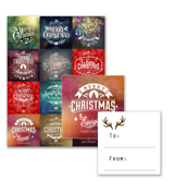 12 Gift Tags - A
