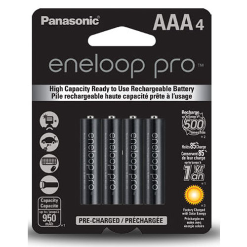 Panasonic-Eneloop Pro AAA 4 Pack Batteries-Batteries