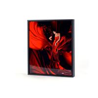 11x14 Vertical Black Frame Metal Panel