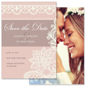 Lace C - 2 Sided Save the Date  5x7