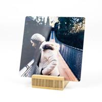 4x4 Mini Metal w/ Bamboo Pedestal