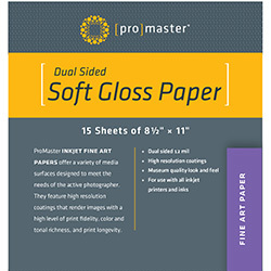 Promaster Photoimage Album Dual Sided Inkjet Paper 85x11 Semi