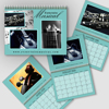 8.5 x 11 - 2020 Light Color Background Wall Calendar - Freestyle