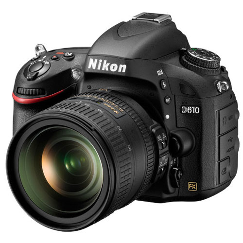 Nikon-D610 DSLR Camera with AF-S NIKKOR 24-85mm VR Lens - Black-Digital Cameras