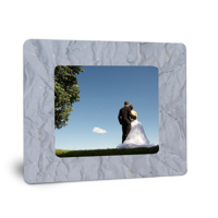 5x7 on 8x10 Stacked Aluminum H Blue Crinkle
