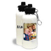 Water Bottle White 600ml 1 Vertical Image & Text