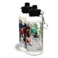 Water Bottle White 600ml Wrap 1 Image