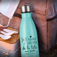 Bouteille coke 500 ml turquoise -St-Valentin