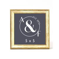 5x5 Cream/Gold