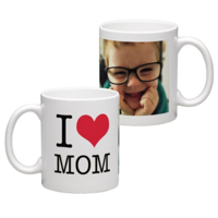 White Coffee Mug 11oz (wrap) Mom Mug - D