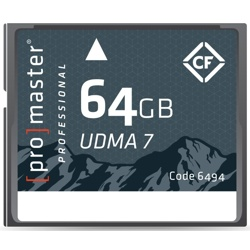 ProMaster-64GB Professional RUGGED Compact Flash - UDMA 7 #6494-Memory cards, tape and discs