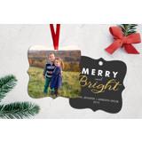 Glitter Merry & Bright Ornament