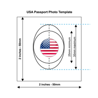 American Passport Photo Template
