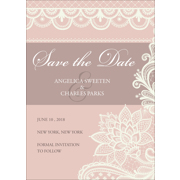 Lace C - 1 Sided Save the Date  5x7