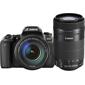 Canon-EOS 77D Digital SLR Camera with EF-S 18-135mm IS USM and EF-S 55-250mm IS STM Lenses-Digital Cameras