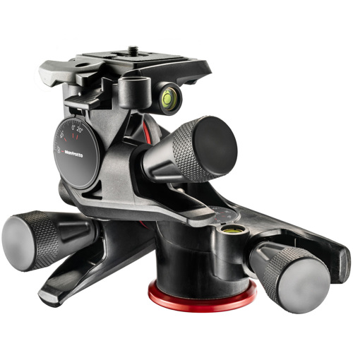 Manfrotto-XPRO Geared 3 Way Head with Adapto Body #MHXPRO-3WG-Tripod Heads